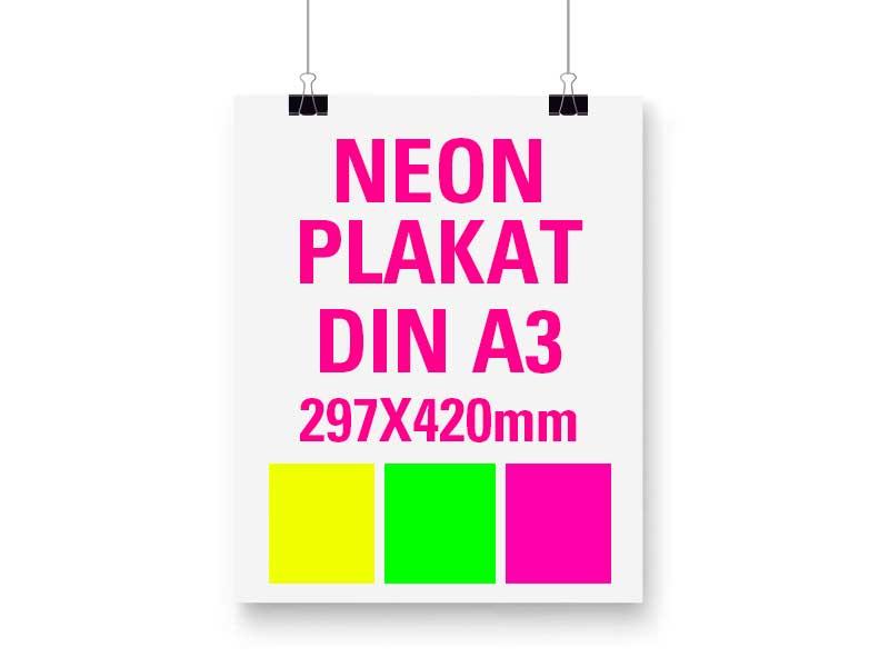 Neon Plakat DIN A3