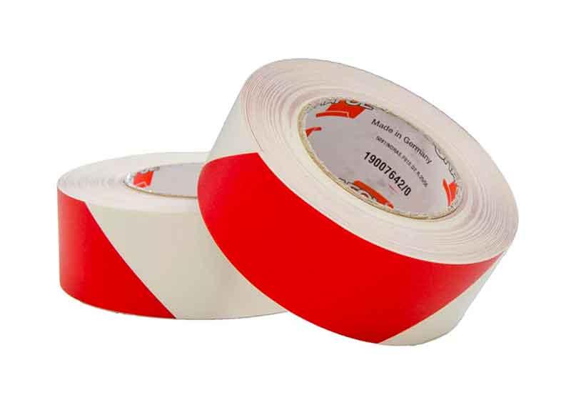 Markierungsband rot/weiß rutschhemmend 25m