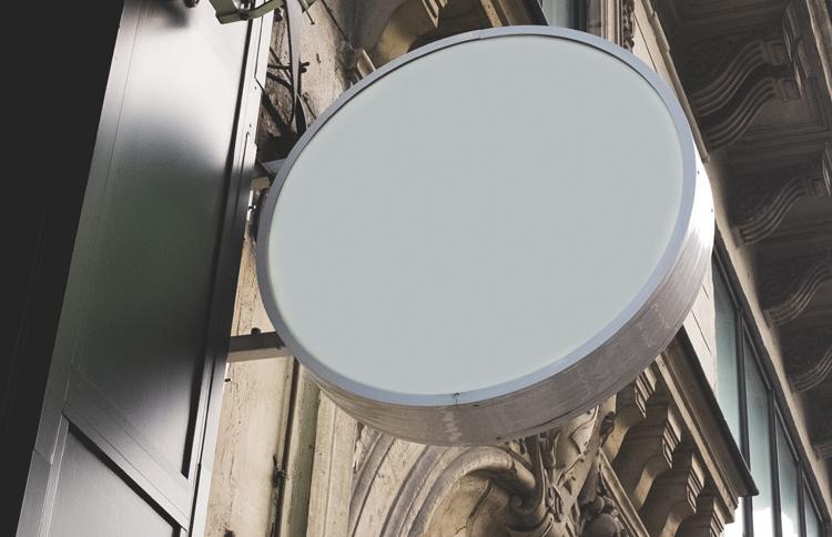 Leuchtkasten rund / oval – einseitig