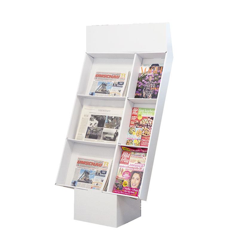 Bodenaufsteller Zellendisplay | Zeitungen & Magazine