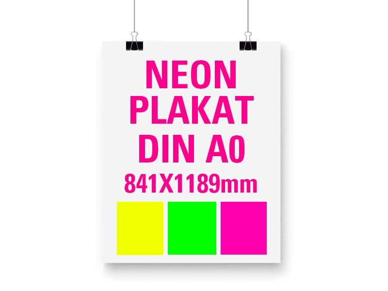 Neon Plakat DIN A0