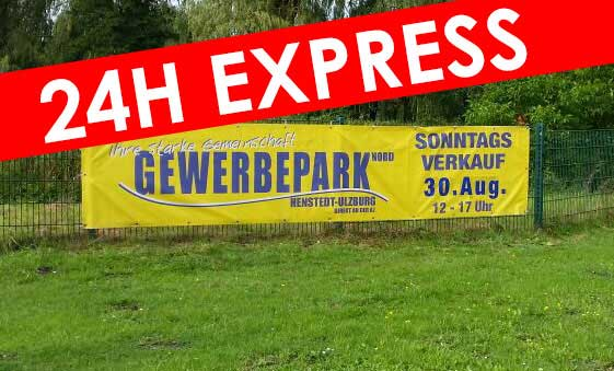 Express-Banner inkl. Digitaldruck