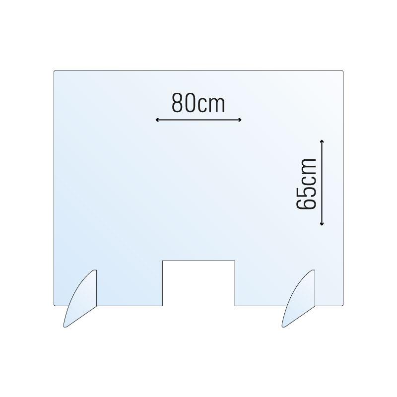Schutzwand / Hygienewand / Spuckschutz 80x65cm