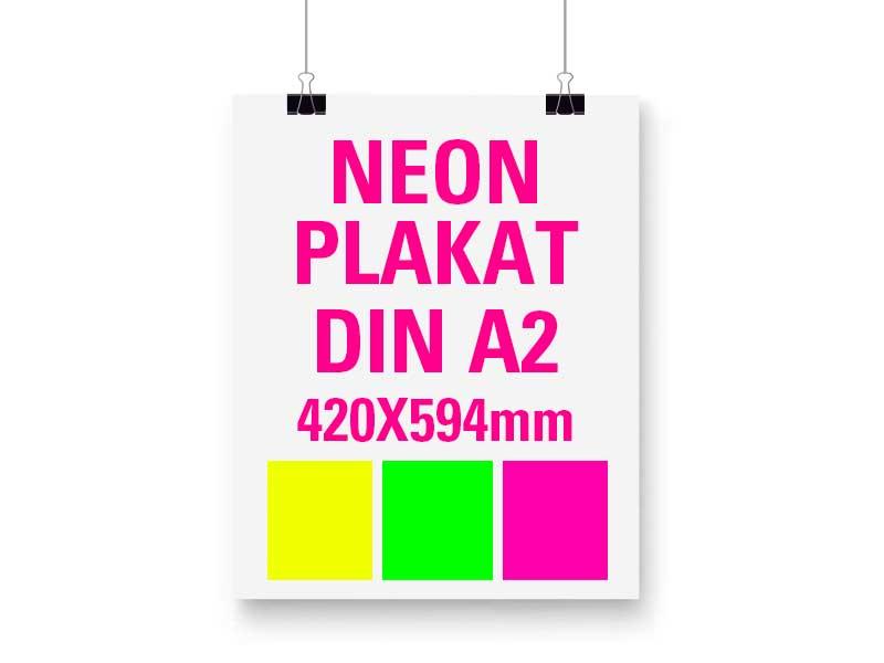 Neon Plakat DIN A2